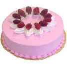 1kgm Strawberry Eggless Cake
