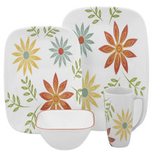 16 Pieces Corelle Dinner Set. Shipping - Within 4-5 Working Days. P.S Please Note That The Color And Design May Vary According To The Availability.