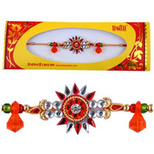 Rakhi-2. This Product Needs To Be Accompanied With Flowers. Please Note That The Color And Design May Vary According To The Availability.