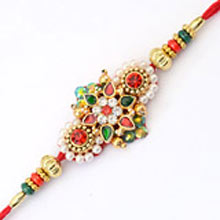 Rakhi-19. This Product Needs To Be Accompanied With Flowers. Please Note That The Color And Design May Vary According To The Availability.