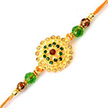 Rakhi-21. This Product Needs To Be Accompanied With Flowers. Please Note That The Color And Design May Vary According To The Availability.