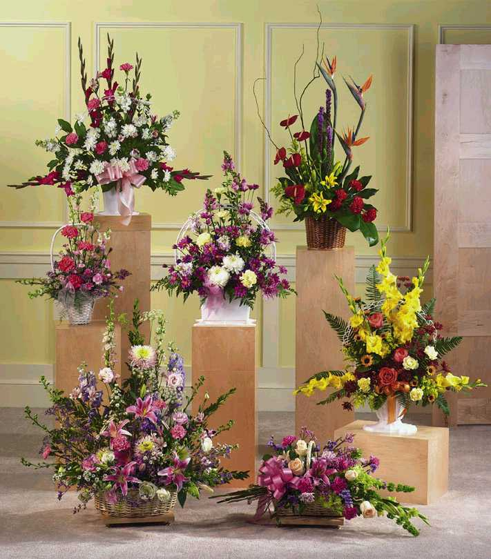 6 Different Arrangements Of Assorted Flowers