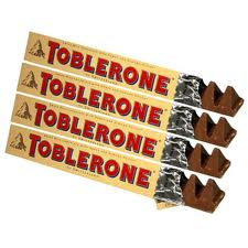 4 Medium Size Toblerone