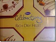 A Box of Cadbury Celebrations Rich Dry Fruit