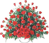 150 Red Roses Arrangement