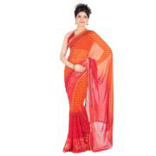 A Classy Ethnic Saree. Shipping-Within 4-5 Working Days. P.S Please Note That The Color And Design May Vary According To The Availability.